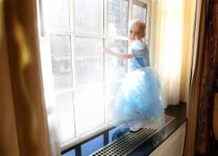 charlotte as a princess at the tea